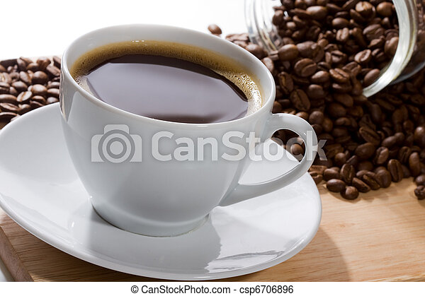 cup with coffee  - csp6706896