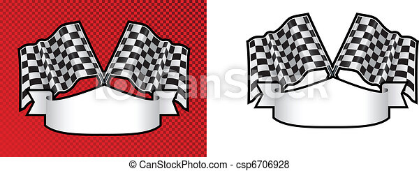motor racing checkered, chequered flag background - csp6706928