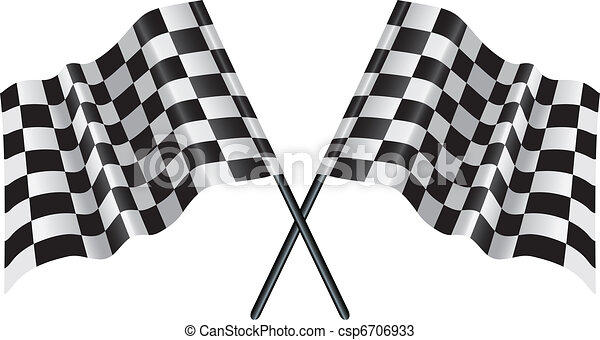 motor racing checkered, chequered flag - csp6706933