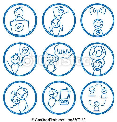 communication man  - csp6707163