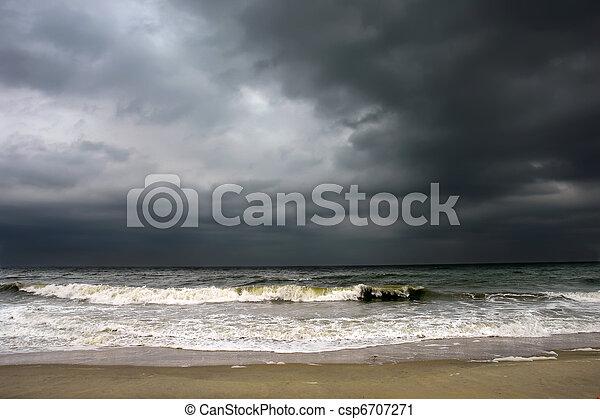 Stormy weather, Atlantic ocean - csp6707271