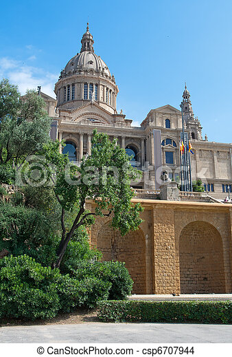 Montjuic Royal Palace - csp6707944