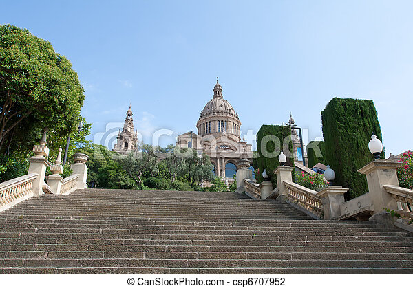 Montjuic Royal Palace - csp6707952