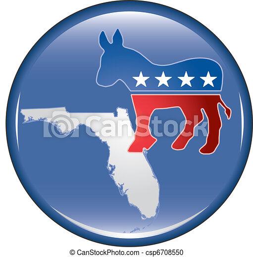 Democrat Florida Button - csp6708550