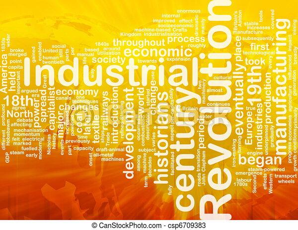 Industrial revolution word cloud - csp6709383
