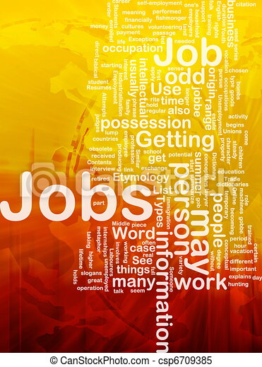 Jobs employment background concept - csp6709385