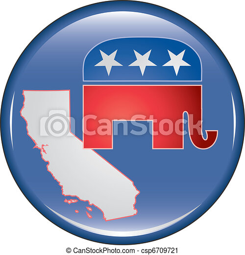 Republican California Button - csp6709721