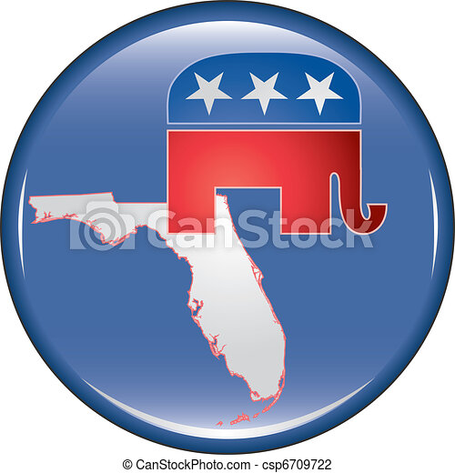 Republican Florida Button - csp6709722