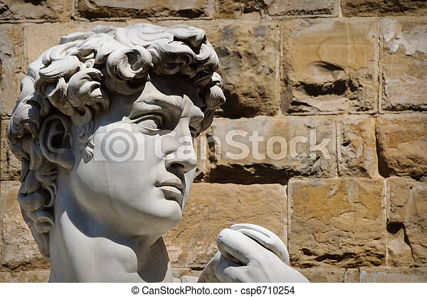David Statue in  Florence Italy - csp6710254