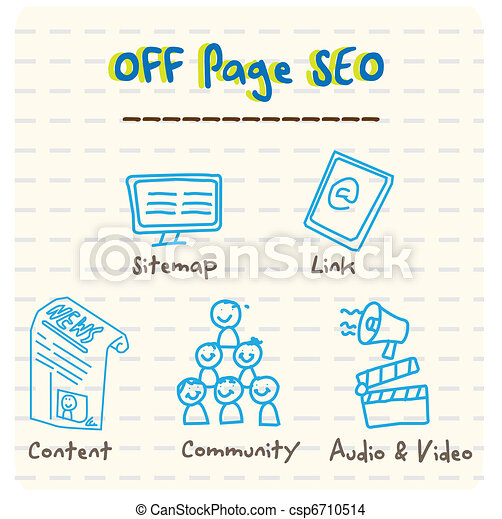 Off Page SEO Vector  - csp6710514