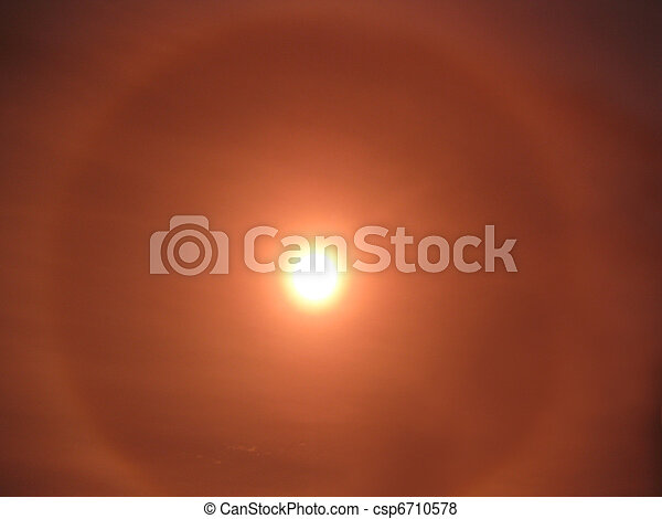 Background Hazy sun - csp6710578