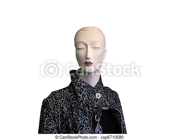 stock photography models. Stock Photo - Model in animal print coat