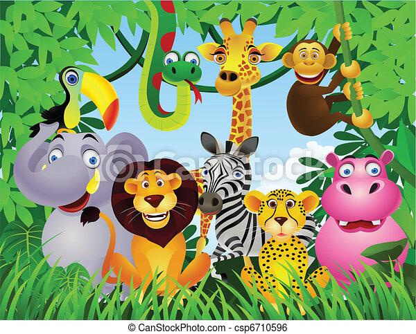 animal cartoon - csp6710596