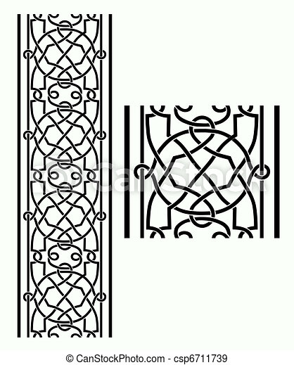 Celtic Border - csp6711739