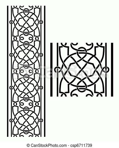 Celtic Border - csp6711739