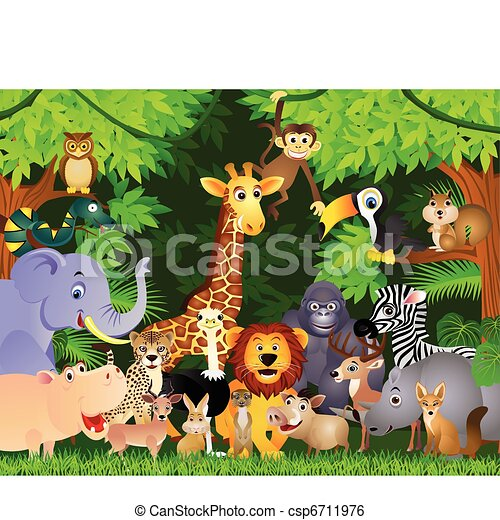 Animal cartoon - csp6711976