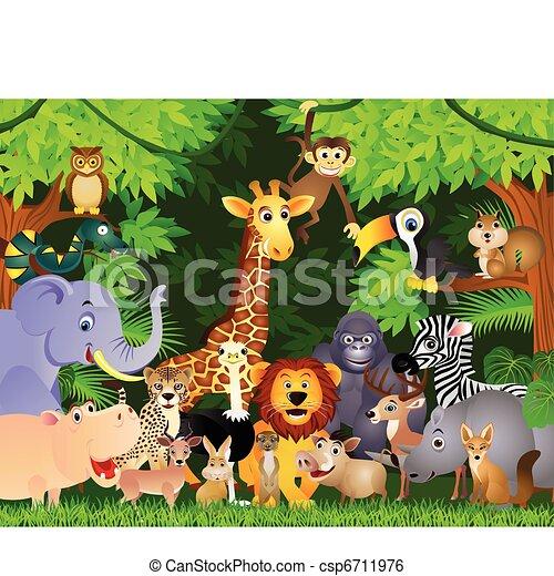Animal cartoon - csp6711976