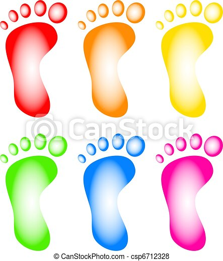 Colourful Feet - csp6712328
