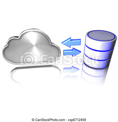A database offers services to the cloud - csp6712459