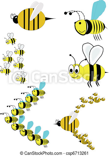 swarm of bees in attack formation - csp6713261