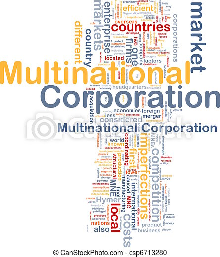 Multinational corporation background concept - csp6713280