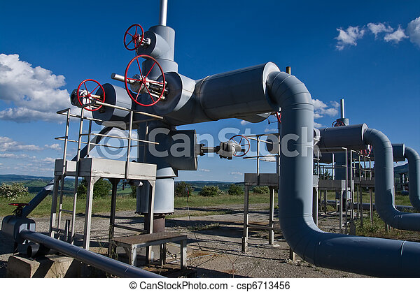 steam geothermal well and pipeline - csp6713456