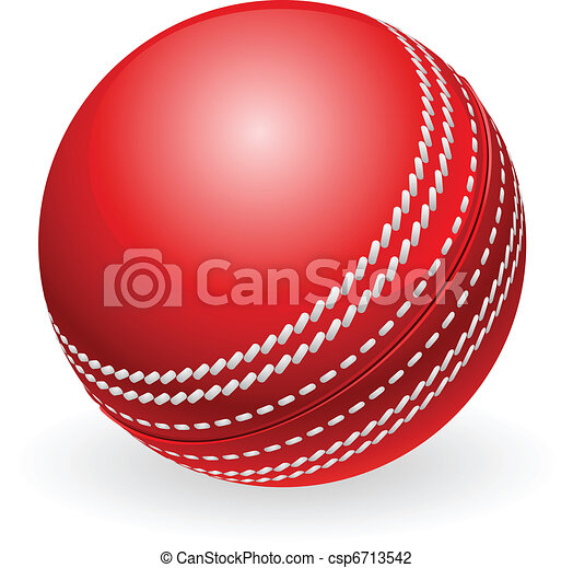 Shiny red traditional cricket ball - csp6713542