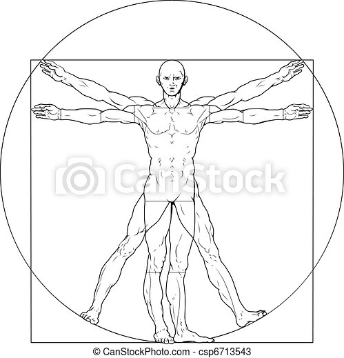 Vitruvian man - csp6713543