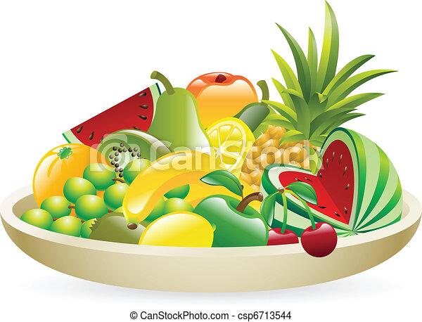 Fruit Bowl Line Drawing Bowl of Fruit Illustration