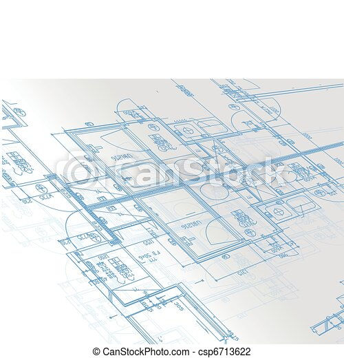 Sample of architectural blueprints  - csp6713622