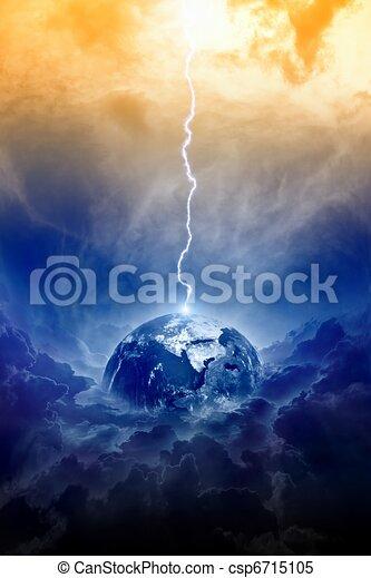 Planet Earth in danger - csp6715105