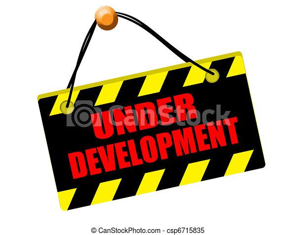 Under development sign - csp6715835