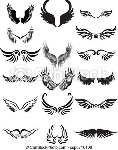 Wings silhouette collection - csp6716108