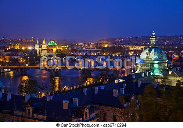 View on Prague Bridges  - csp6716294