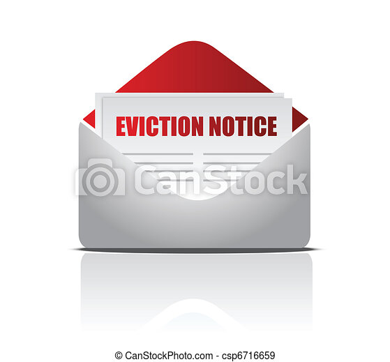Eviction notice letter illustration - csp6716659