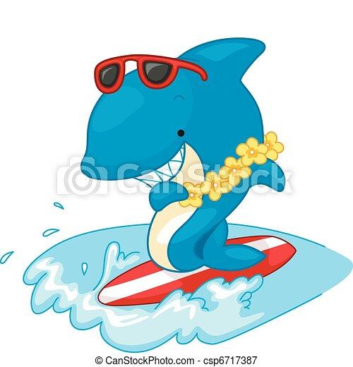 Surfer Shark - csp6717387