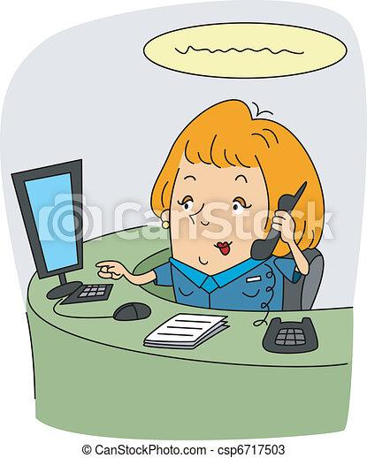 Receptionist - csp6717503