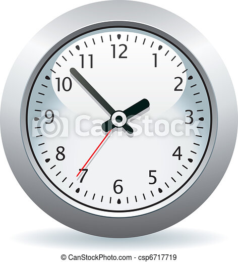 vector gray clock - csp6717719