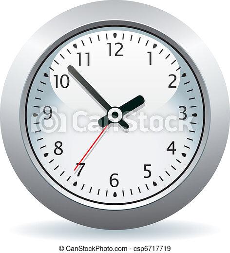 vector gray clock - csp6717719