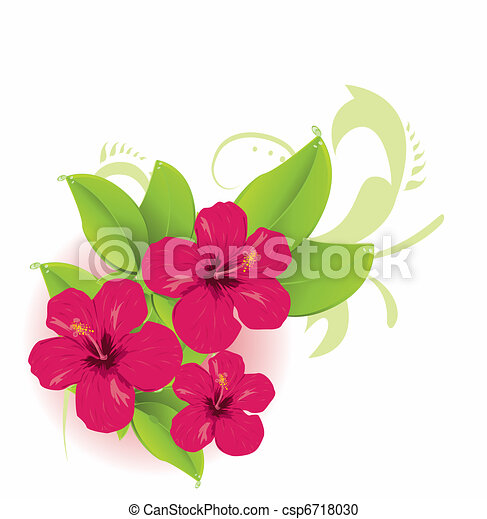 Vector Clipart of Tropical flower csp6718030 - Search Clip Art ...