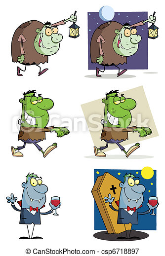 Halloween Characters-Collection - csp6718897