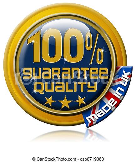 Guarantee quality 100% made in Uk  - csp6719080