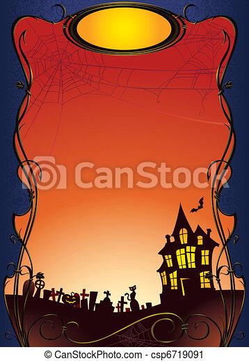 Halloween background - csp6719091