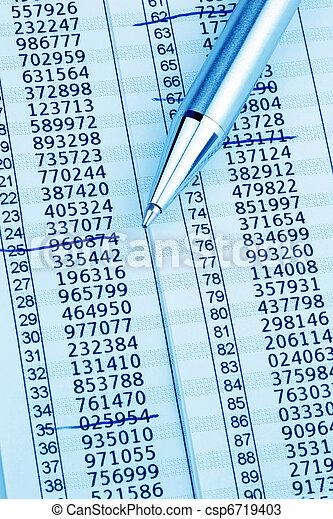 Tan List Online Banking - csp6719403