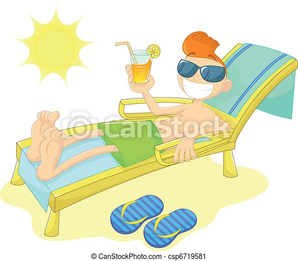 boy at the beach - csp6719581