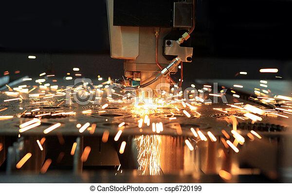 Industrial,  laser, cortador - csp6720199
