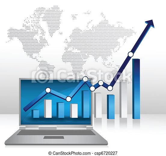 Laptop business success - csp6720227