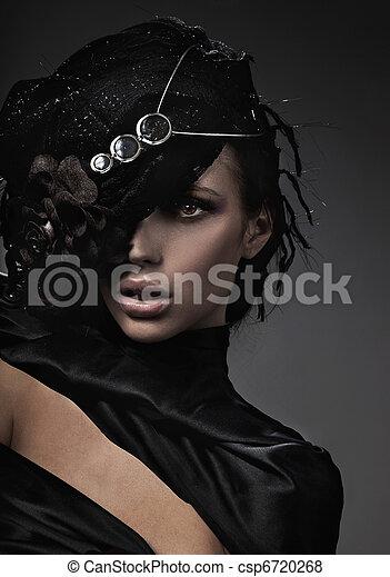 Fine art photo of a fashion lady - csp6720268