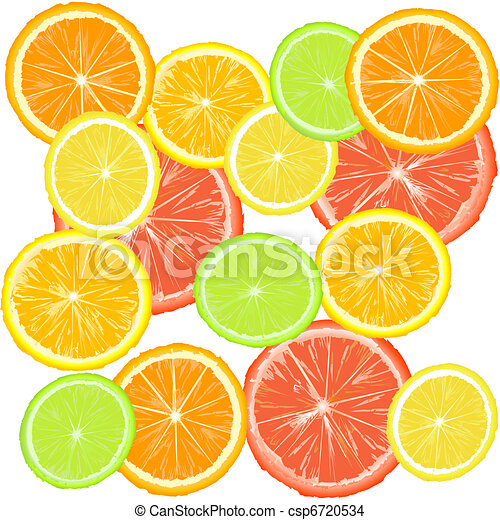 Background with citric fruits - csp6720534