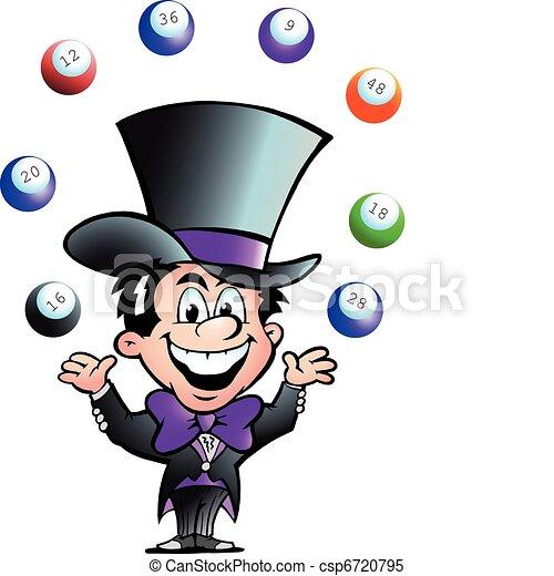 Juggling Bingo Man - csp6720795